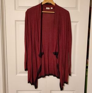 4 for $25!  Red and Black Cardigan
